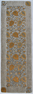 Silver Gray, Gold Floral - Velvet Wall Hanging, Home Decor Exquisiti