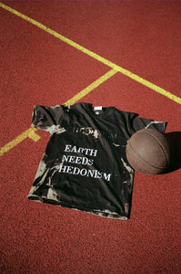 Hedonism x Sustainable Zack « Earth Needs Hedonism » black tye and dye tee shirt