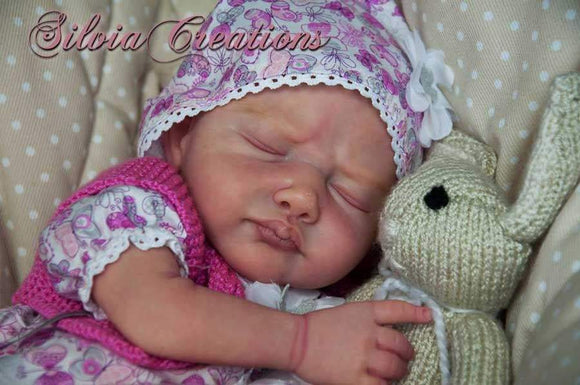 CUSTOM ORDER Reborn Doll Baby Girl or boy  Leonor by Lenka Polacek Hucinova 3/4 LIMBS &   18 inches  4-6 pounds (Reborn Babies) - mylittlestblessings.myshopify.com reborn baby, reborn doll, art dolls, custom babies, reborn babies
