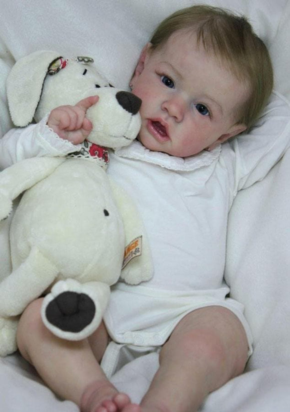 CUSTOM ORDER Reborn Doll Baby Girl or boy  Saskia by Bonnie Brown Full Limbs 23 inches 7-9 lbs (Reborn Babies)