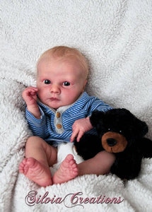 CUSTOM ORDER Reborn Doll Baby Girl or boy Realborn®  Asher Awake Full Limbs 19 Inches 4-6 lbs You Choose All Details Layaway Available! - mylittlestblessings.myshopify.com reborn baby, reborn doll, art dolls, custom babies, reborn babies