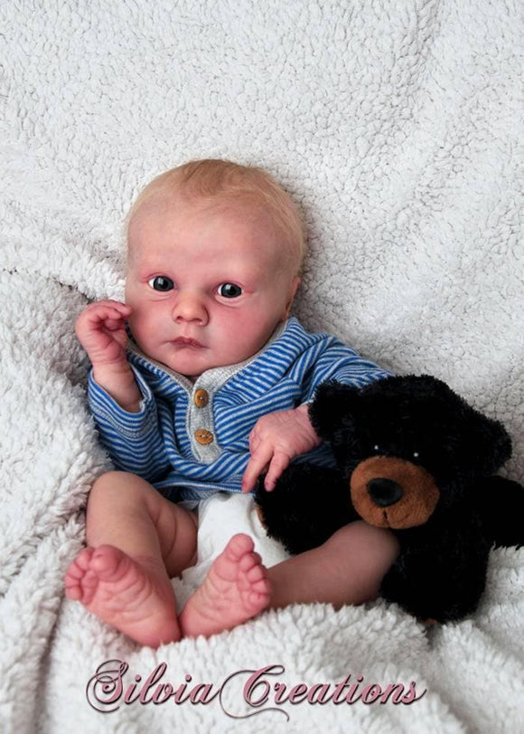 CUSTOM ORDER Reborn Doll Baby Girl or boy Realborn®  Asher Awake Full Limbs 19 Inches 4-6 lbs You Choose All Details Layaway Available!