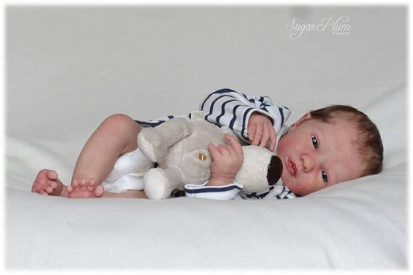 CUSTOM ORDER Reborn Doll Baby Girl or boy Realborn®  Logan Awake Full Limbs 19 Inches 4-6 lbs You Choose All Details Layaway Available! - mylittlestblessings.myshopify.com reborn baby, reborn doll, art dolls, custom babies, reborn babies