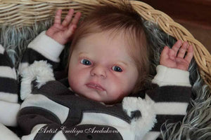 CUSTOM ORDER Reborn Doll Baby Girl or boy Morgan by Sandy Faber 21 inches FULL Arms 3/4 Legs (Reborn Babies) - mylittlestblessings.myshopify.com reborn baby, reborn doll, art dolls, custom babies, reborn babies