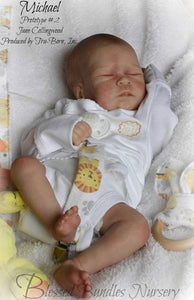 CUSTOM ORDER Reborn Doll Baby Girl or boy Michael by Jane Collingwood 17 inches 4-6 lbs 3/4 Arms ~ Full Legs . (Reborn Babies) - mylittlestblessings.myshopify.com reborn baby, reborn doll, art dolls, custom babies, reborn babies