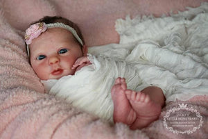 "Custom    Realborn® Evelyn Awake 19"" Full limbs. 5-7 lbs."