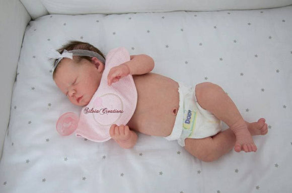 CUSTOM ORDER Reborn Doll Baby Girl or boy Realborn®  Sleeping Zuri Full Limbs 19 Inches 4-6 lbs You Choose All Details Layaway Available! - mylittlestblessings.myshopify.com reborn baby, reborn doll, art dolls, custom babies, reborn babies