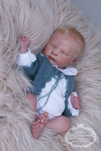 "Custom Soft Vinyl + Cloth Body Realborn®  Joseph Asleep Full Limbs 18"" 4-6 lbs"