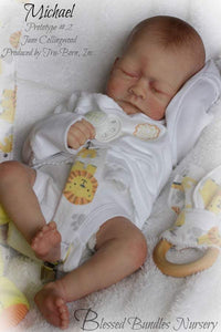 CUSTOM ORDER Reborn Doll Baby Girl or boy Michael by Jane Collingwood 17 inches 3/4 arms full legs 4-6 lbs . You Choose All The Details Layaway Available!