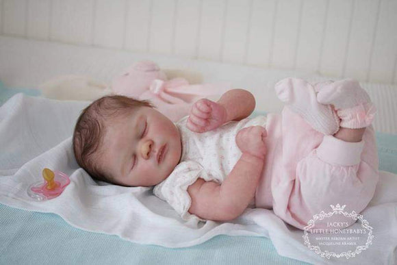 CUSTOM ORDER Reborn Doll Baby Girl or boy Realborn® Jade Sleeping 18 inches Full limbs 4-6 lbs. Vinyl. (Reborn Babies) - mylittlestblessings.myshopify.com reborn baby, reborn doll, art dolls, custom babies, reborn babies