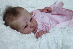 CUSTOM ORDER Reborn Doll Baby Girl or boy Realborn® Aria Awake 17 inches Full limbs  4-6 lbs You Choose All Details Layaway Available!