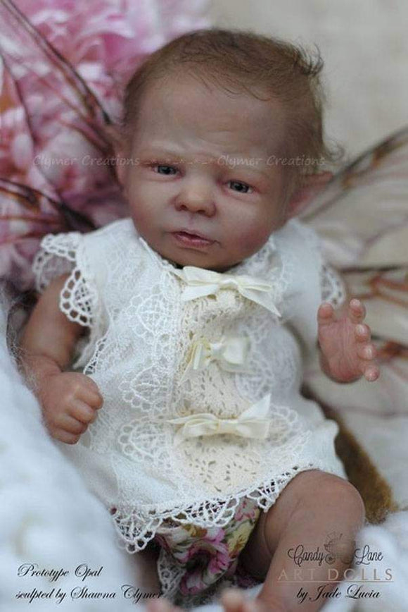 CUSTOM MADE Reborn Doll Baby Girl or boy Opal Fairy by Shawna Clymer  14 inches FULL  Limbs (Reborn Babies)