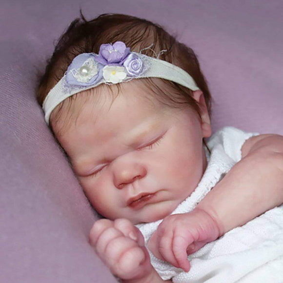 CUSTOM ORDER Reborn Doll Baby Girl or boy Realborn® Lavender Sleeping 19 inches Full Limbs 6-8 lbs You Choose All The Details Layaway Available!