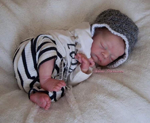 CUSTOM ORDER Reborn Doll Baby Girl or boy  Mick by Adrie Stoete. 16 inches Full limbs. 4-6 pounds (Reborn Babies)