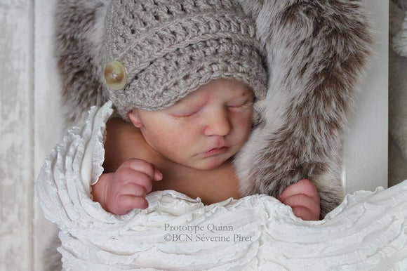 CUSTOM ORDER Reborn Doll Baby Girl or boy Realborn® Quinn Sleeping . 19 inches Full limbs 5-8. Vinyl. (Reborn Babies) - mylittlestblessings.myshopify.com reborn baby, reborn doll, art dolls, custom babies, reborn babies