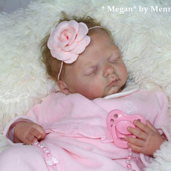 CUSTOM ORDER/Made To Order Reborn Doll Baby Girl or boy Megan By Menna Hartog 20 inches - approx 7 lbs - Full limbs (Reborn Babies)