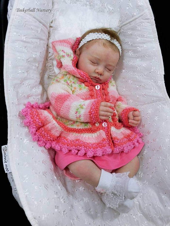 CUSTOM ORDER Reborn Doll Baby Girl or boy Realborn® Miranda Asleep 19 inches Full Limbs & You Choose All The Details Layaway Available!