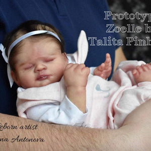 CUSTOM ORDER Reborn Doll Baby Girl or boy Zoelle By Talita Pinheiro 17 inches  4-6  lbs Full Limbs You Choose All The Details Layaway Available!