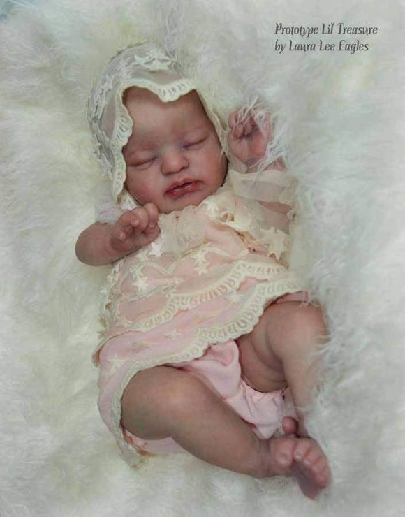 Custom (Long Sold Out) Lil Treasure By Laura Lee Eagles 19 inches Full Limbs 5-7 pounds . (Reborn Babies) - mylittlestblessings.myshopify.com reborn baby, reborn doll, art dolls, custom babies, reborn babies