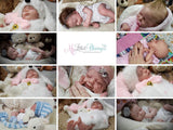 CUSTOM ORDER/Made To Order Reborn Doll Baby Girl or boy  Merle by Jannie de Lange. 3/4 limbs. 19 inches 7-9 lbs (Reborn Babies)