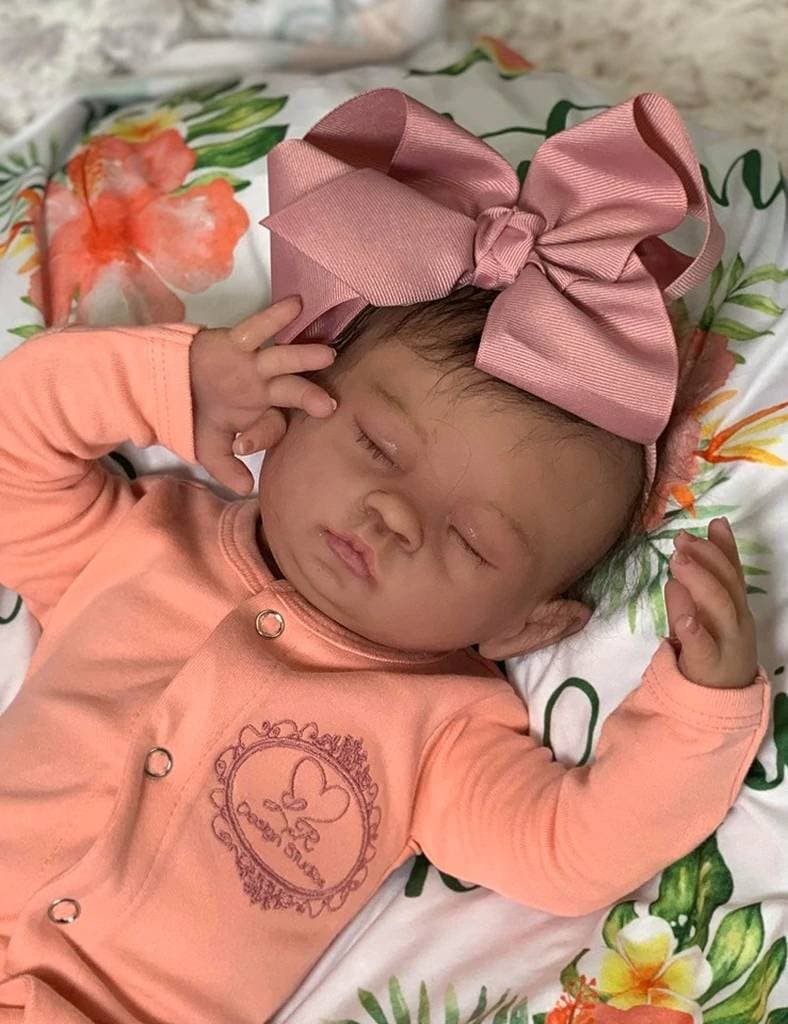 FULL SILICONE Baby Kulani by Laurie Sullivan Roy.  Custom Platinum Silicone Baby Girl. Full body Platinum Silicone reborn baby.