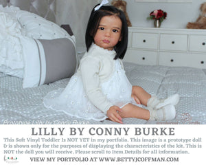 "CuStOm PrOtOtYpE sTyLe ToDdLeR cHiLd DoLL Lilly by Conny Burke 28"" Full Limbs."