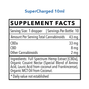 Regular Strength SuperCharged CBDa (333mg CBDa)