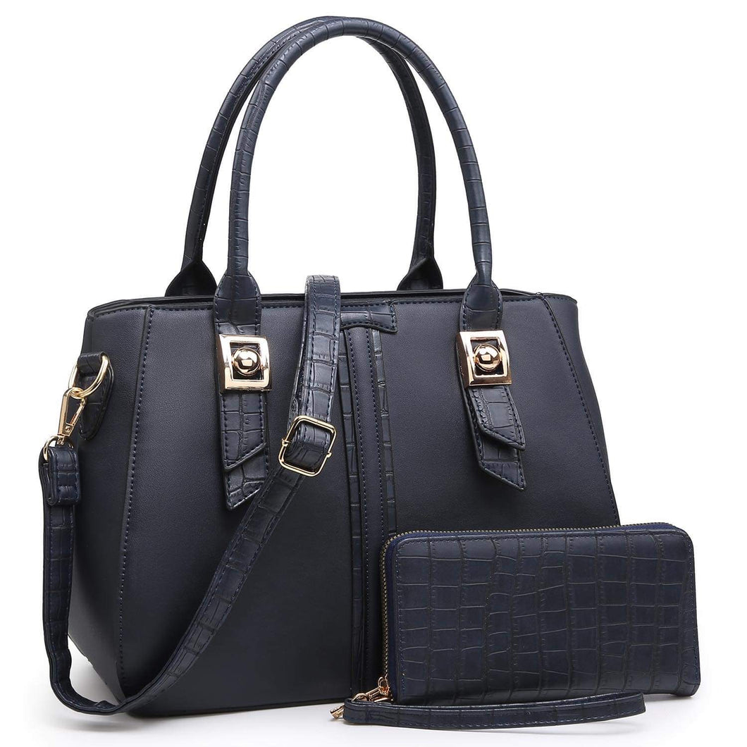 Navy Etta with wallet