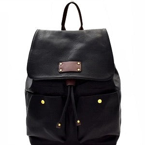 Black Soft Butter Backpack Set