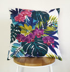 Tropical cushion cover, monstera cushion, orchid cushion cover, tropical pillow cover