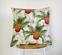 Tropical cushion cover, pineapple cushion cover, pineapple pillow cover, pineapple print cushion