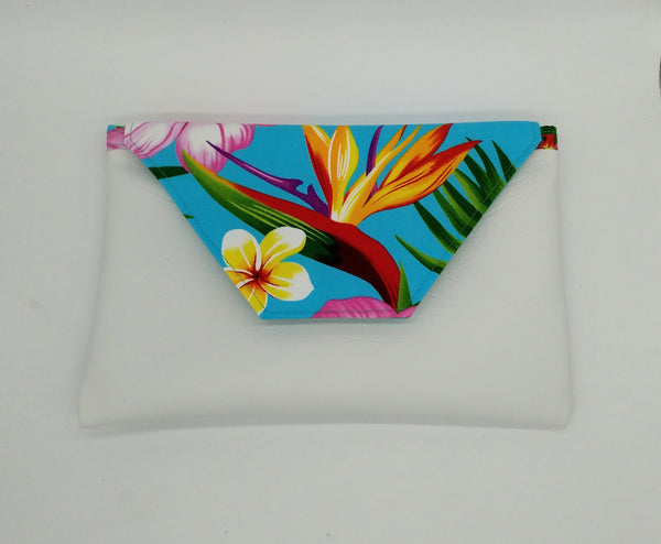 Tropical fold over clutch, purse