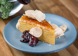 Caramel Pumpkin Crepe Cake AVAILABLE BY THE SLICE, TOO!