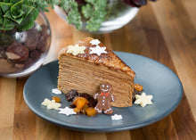 Load image into Gallery viewer, Gingerbread Crepe Cake AVAILABLE BY THE SLICE, TOO!