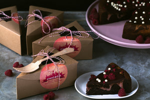 Deep Dish Raspberry Brownie