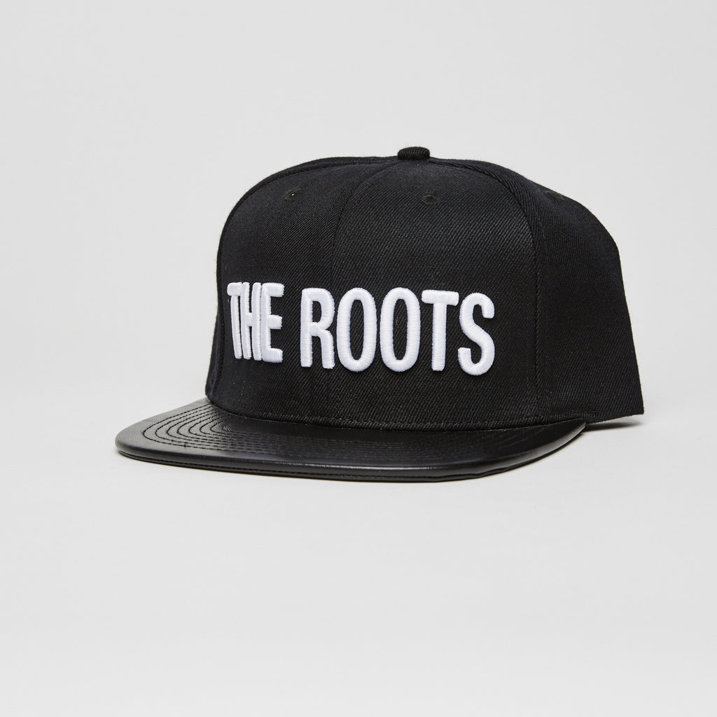THE ROOTS Leather Brim Strapback