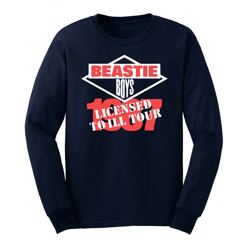 "Beastie Boys ""Licensed To Ill"" 1987 Tour Long Sleeve T-Shirt"