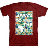 Africa To The World T-Shirt Maroon