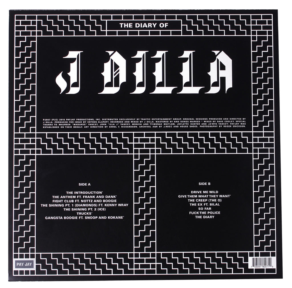 "J Dilla ""The Diary of J Dilla"" 2xLP Vinyl -or- Cassette"
