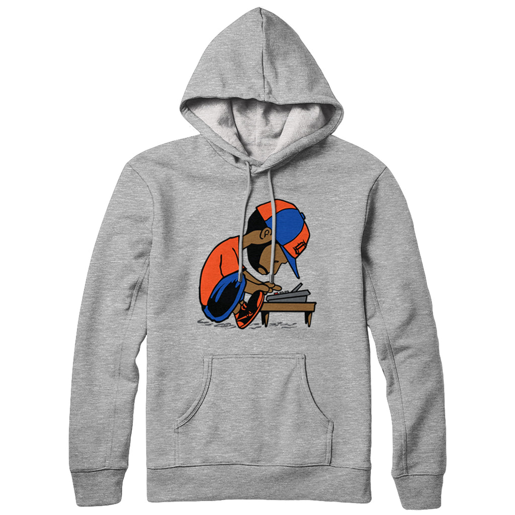 "J Dilla ""Maestro"" Hooded Sweatshirt (Okayplayer Exclusive) Grey"