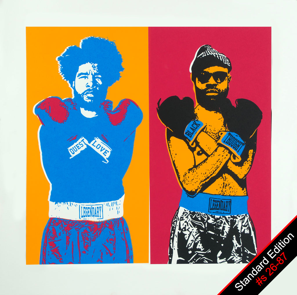 """Double Trouble"" featuring Questlove & Black Thought Silkscreen Print - Standard Edition"