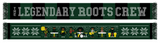 The Legendary Roots Crew Holiday Scarf - Green & Black