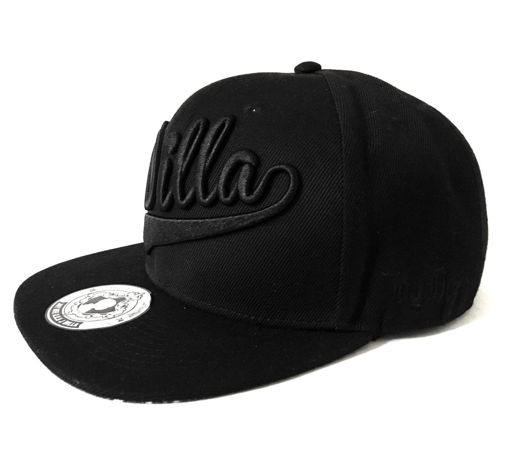 J Dilla Snapback Hat (Black on Black)