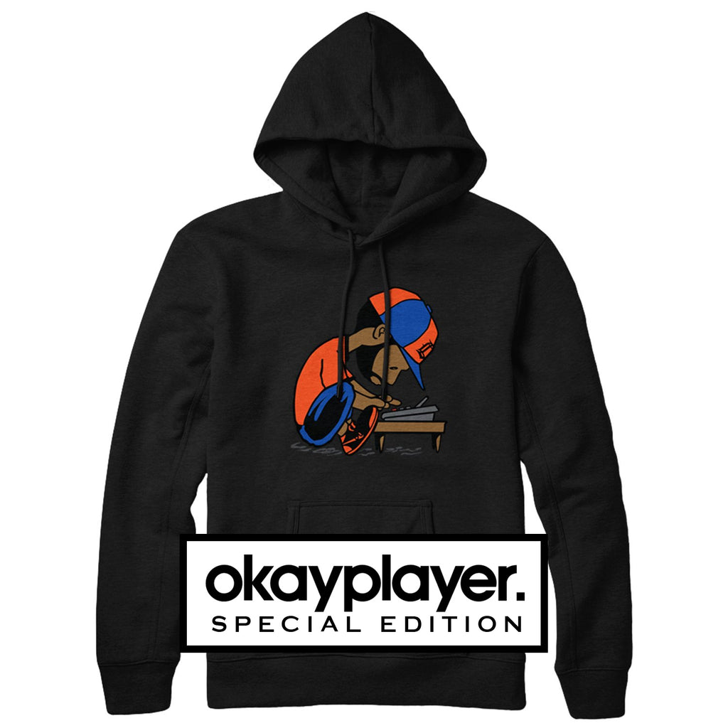 "J Dilla ""Maestro"" Hooded Sweatshirt (Okayplayer Exclusive) Black"