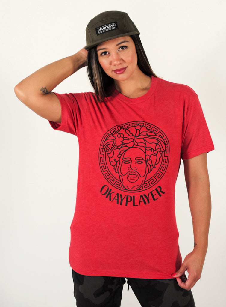 "Okayplayer ""Migos"" Vintage T-Shirt in Blue and Red"
