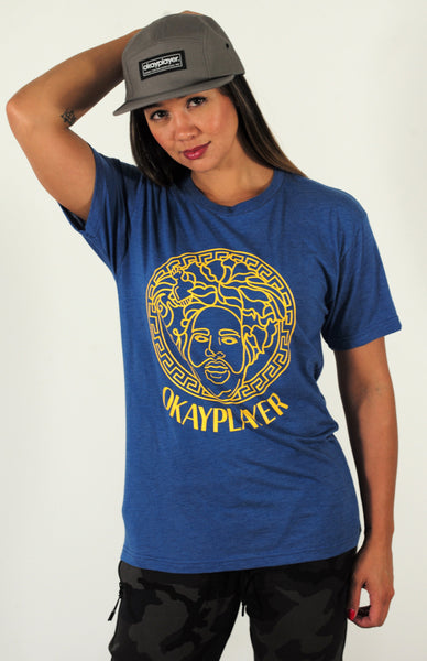 Okayplayer migos vintage t shirt women 39 s blue and for T shirt by migos