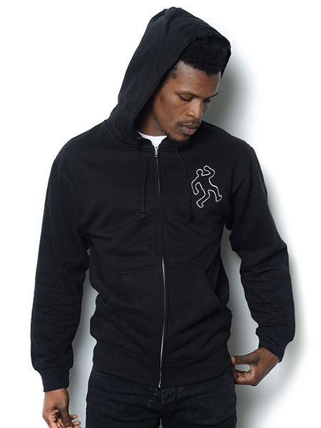 "D'Angelo ""The Charade"" Chalkline Zip-up Hooded Sweatshirt [L & XL]"