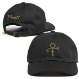 Prince Love Symbol Hat - Black Gold