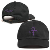 Prince Love Symbol Hat - Black Purple