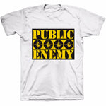 Public Enemy Logo White T-Shirt